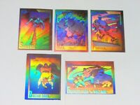 1991 MARVEL UNIVERSE SERIES 2 HOLOGRAM INSERT 5 SET CARD H1-H5 SPIDER-MAN! HULK!
