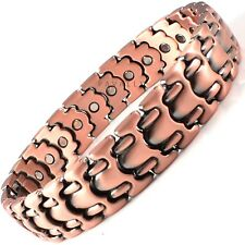 GENTS  COPPER MAGNETIC BRACELET 26 MAGNETS carpal tunnel arthritis pain MENS NEW
