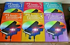 Mastering Classic Favorites Books 1 thru 6 with CDs by Sheftel & Lehrer, Piano