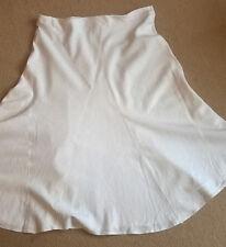 M&S White Linen A Line paneled Skirt size 12