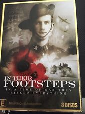 IN THEIR FOOTSTEPS (ANZAC) - IN A TIME OF WAR THEY RISKED EVERYTHING - 3 DISCS