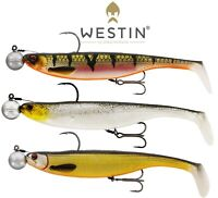 Westin Lures Fishing 3Pcs ShadTeez 14cm  Ready Rigged R N R Soft Plastic Shad UL