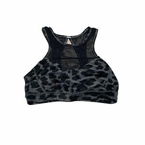 Lululemon Sports Bra Womens Size 8 Animal Print Black Gray