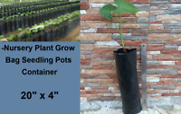 "S. 15 pcs Nursery Plant Grow Bag Seedling Pots Container, Planting Bags 20"" x 4"""