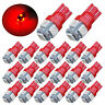 20x Super Red T10 LED Bulbs Car Interior License Light 2825 192 194 5050 5 SMD