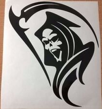 grim reaper tribal flames stock car racing vinyl graphic sticker rear window fun