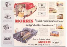 Morris Quarter Ton Van & Pick Up MODERN postcard issued by Vintage Ad Gallery