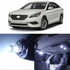 11 x White Interior LED Lights Package For 2011 - 2017 Hyundai Sonata + TOOL