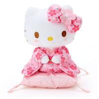 Hello Kitty Plush Doll S Sakura Kimono Sit Pink Sanrio Japan