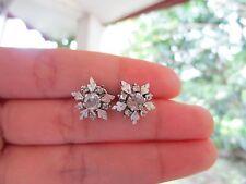 .45 Carat Diamond White Gold Vintage Earrings 10k sepvergara