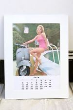 VESPA PIAGGIO Vintage JUNE 1966 Calendar 60s MODS 150 SPRINT SCOOTER Evi Marandi