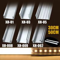 30/50CM U-Style Aluminium Channel LED Strip Bar Under Cabinet Light Holder