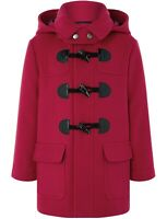 Monsoon Boys Children's Rory Red Winter Duffle Hood Neck Coat Jacket 1 to 10 yrs