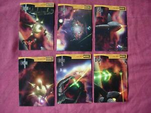 Babylon 5 Season 4 X6 Fleet of the First Ones 1:6 chase Fleer/SkyBox 1998 VFN
