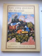 Les 5 Poèmes de Nezâmî,Perse,17éme,Persan,Bibliothèque de l'image. B6