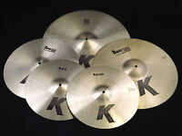 Zildjian K0800 K Cymbal Pack Box Set 14 inch, 16 inch, 18 inch & 20 inch