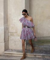 - GIAMBATTISTA VALLI x H&M PINK FLORAL ONE SHOULDER DRESS UK 8 EUR 36 US 4