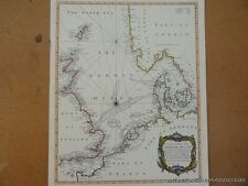 OLD COPY OF MAP MARINE CHART OF THE GERMAN OCEAN 1700'S