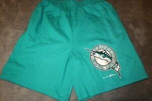 NWOT MENS VINTAGE FLORIDA MIAMI MARLINS SWEAT SHORTS SIZE MEDIUM TEAM RATED USA