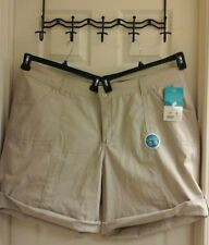 Riders by Lee, women's plus size 22W, beige Walk Shorts, roll up, NWT $25