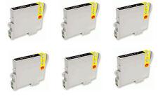 6 Inchiostri NERO PER EPSON R200 R220 R300 R340 RX500 RX600
