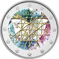 2 Euro Gedenkmünze Finnland 2020 coloriert Farbe / Farbmünze Universität Turku 2