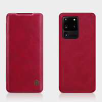 For Samsung Galaxy S20 Ultra 5G Nillkin Slim Leather Case Flip Card Pocket Cover