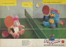 X9549 I Popples giocano a Ping Pong - Pubblicità 1986 - Advertising