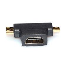 3 in 1 HDMI Frau zum Mini-HDMI-Stecker + Micro-HDMI-Stecker Connector Adapter