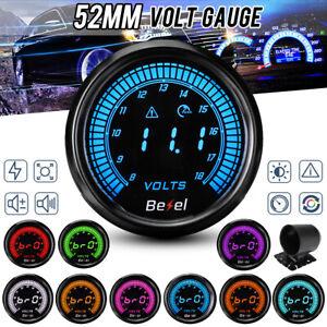 """2"""" 52mm Car LED Voltmeter Volt Voltage Gauge Meter 10 Colors Display Backlight"""