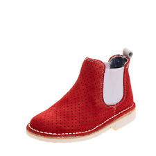 FRATELLI BENEDI Kids Suede Leather Chelsea Boots EU 26 UK 8.5 US 9.5 Perforated