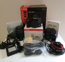 Cámara SLR Canon EOS 1000D 10MP Digital + EF-S 18-55 & EF 55-200 Lente de ultrasonidos