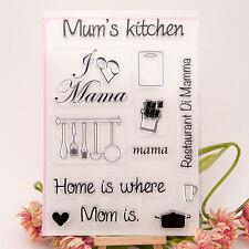 Timbro Clear Set Mamme Cucina Forchetta Cucchiaio Home CUP ALBUM Card Making cs084