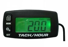 Digital Re Settable Inductive Tacho Hour Meter Tachometer For Motorcycle Marine