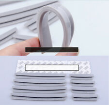 8x Auto SUV Pickup Front Rear Door Edge Gray Protector Crash Bar Anti-rub Strips