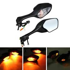 Motorcycle LED Turn Signal Mirrors For Suzuki GSXR600 GSXR750 GSXR1000 2005-2015