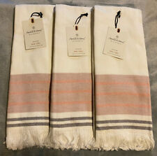 (3) Hearth & Hand with Magnolia Ombre Border Cotton Hand Towels