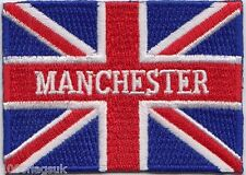 Manchester City Union Jack Flag Embroidered Badge Patch