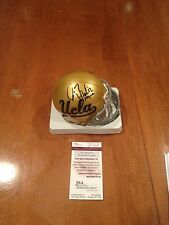 Gary Beban UCLA Bruins autograph helmet JSA 67 Heisman Inscription Football Auto