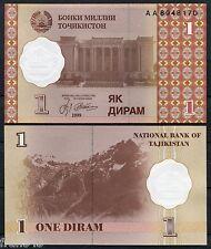 TAJIKISTAN 1 DIRAM 1999 Pick 10 SC  / UNC