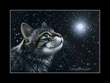 Tabby Cat It Is Snowing Print by I Garmashova