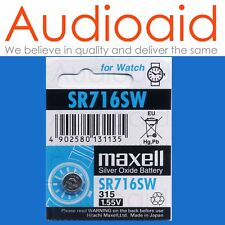 1PC SR716SW (315) GENUINE MAXELL SILVER OXIDE BATTERY - MADE IN JAPAN (NOT FAKE)