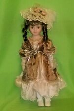 """Cathay Collection """"Addison"""" Victorian Porcelain Doll Ltd.16"""" Tall"""