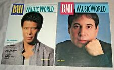BMI MUSICWORLD 2 MAGAZINE lot 1988/90 Paul SIMON,Gregory ABBOTT music world VG+
