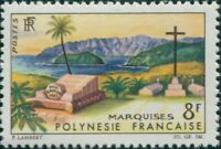 French Polynesia 1964 Sc#214,SG41 8f Landscape Marquesas MNH