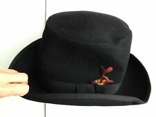 Harcfield Of Memphis Vintage Dixie Hat & Uniform Cap Black 100% Wool Medium