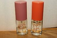 Lot 2 Vintage Jovan Musk for Women perfume Spray 0.38 Oz