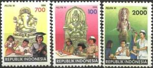 Mint stamps Five Year Development plan Health, Education 1994 Indonesia   avdpz