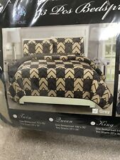 Mk Home 3Pc King Quilted Bedspread Set