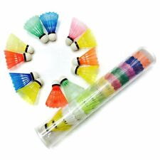 12PACK Colorful Shuttlecocks Badminton Balls Training Indoor Outdoor Sports US